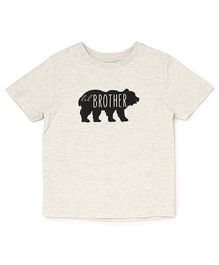 The Lion And The Fish Tee Lil Brother Bear Print - Off White