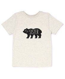 The Lion And The Fish Tee Big Sister Bear Print - Off White