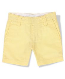 The Lion And The Fish Solid Oxford Shorts - Yellow