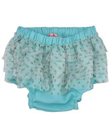 Chicabelle Ruffle Design Dot Print Bloomer - Blue
