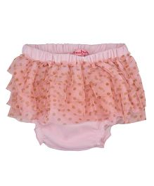 Chicabelle Ruffle Design Dot Print Bloomer - Pink