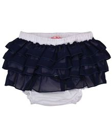 Chicabelle Ruffle Design Toddler Bloomer - Navy Blue