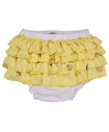 Chicabelle Shimmer Dots Ruffle Design Bloomer - Yellow