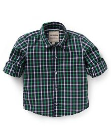 The kidShop Checks Shirt - Green & White
