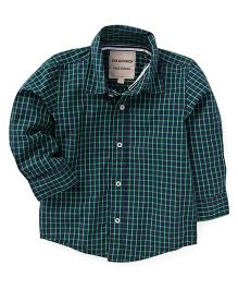 The kidShop Classic Checks Shirt - Green