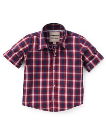The kidShop Checks Shirt - Red & White