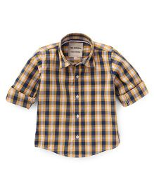The kidShop Checks Shirt - Yellow & Black
