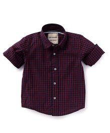 The kidShop Checks Shirt - Maroon