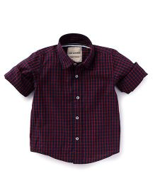 The kidShop Checks Shirt - Maroon