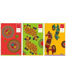 Youva Long Book Regular Size Combo of 3 - Red Green Yellow