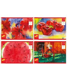Youva Drawing Book Combo of 2 Sets of 4 Books - Red