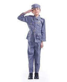 Fancydresswale Full Sleeves Air Force Fancy Dress - Grey