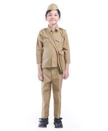 Fancydresswale Full Sleeves Postman Fancy Dress - Khaki