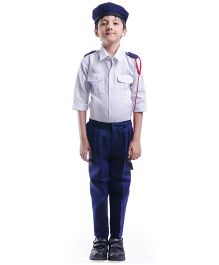 Fancydresswale Full Sleeves Traffic Police -White Blue