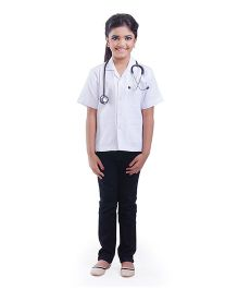 Fancydresswale Half Sleeves Doctor Fancy Dress - White
