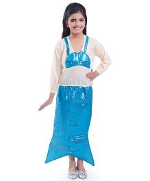 Fancydresswale Mermaid Fancy Dress - Blue White