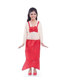 Fancydresswale Mermaid Fancy Dress - Red White