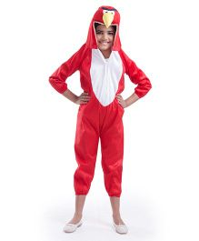 Fancydresswale Angry Bird Fancy Dress - White Red