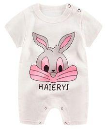 Pre Order - Awabox Bunny Print Romper - White