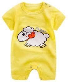 Pre Order - Awabox Sheep Print Romper - Yellow