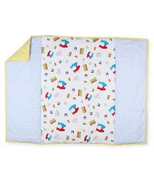 HouseThis The Fighter Robots Pure Cotton Bedcover - Multicolor