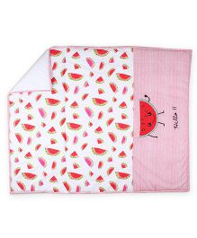 HouseThis The Fruity Watermelon Pure Cotton Quilt - Red