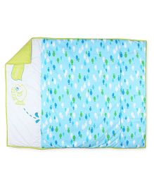 HouseThis The Happy Fishing Pure Cotton Bedcover - Blue