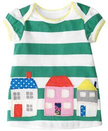 Pre Order - Lil Mantra Houses Design Top - Green