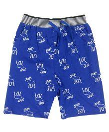 Tickles 4 U Deer Print Shorts - Blue