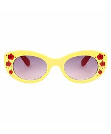 Tickles 4 U Flower Print Sunglasses - Yellow