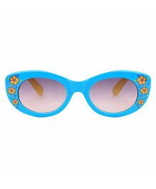 Tickles 4 U Flower Print Sunglasses- Blue