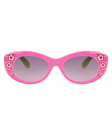 Tickles 4 U Flower Print Sunglasses- Deep Pink