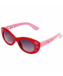 Tickles 4 U Flower Print Sunglasses- Red