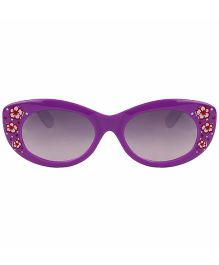 Tickles 4 U Flower Print Sunglasses- Purple