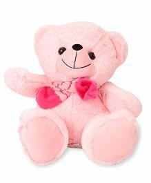 Funzoo Muffy Teddy Bear Soft Toy With Muffler Pink - 30 cm