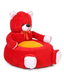 Lovely Teddy Shaped Sofa With Bow - Red Yellow