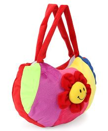 Funzoo Plush Shoulder Bag With Flower Applique (Color May Vary)