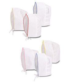 Chocopie Bonnet Caps Pack Of 6 - Multi Color White