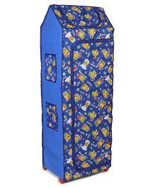 Kids Zone Big Jinny Folding Almirah Minions Print - Blue
