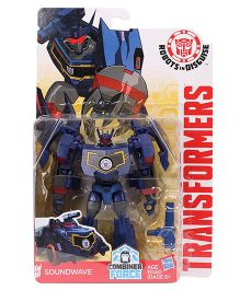 Transformers Rid Warriors Soundwave Figure Royal Blue - 12.5 cm