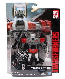 Transformers Deluxe Titans Return Autobot Twinferno Figure Silver Red - 13.5 cm