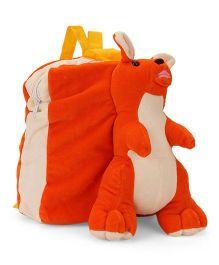 Funzoo Soft Toy Bag Kangaroo Shape - Orange