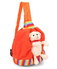Funzoo Soft Toy Bag Puppy Shape Orange - 8.8 Inches