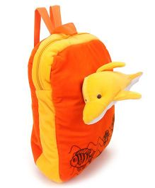 Funzoo Soft Toy Bag Dolphin Shape Orange Yellow - 13.3 Inches