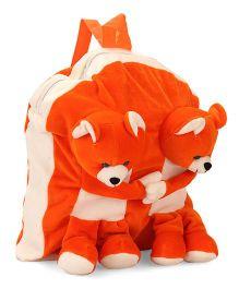 Funzoo Soft Toy Bag Twin Teddy Shape - Orange