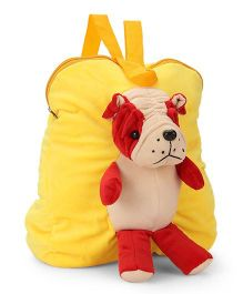 Funzoo Soft Toy Bag Puppy Shape - Yellow