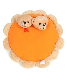 Funzoo Teddy Bear Pair Soft Toy Pillow - Yellow