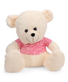 Funzoo Cloudy Teddy Bear With T Shirt Soft Toy Cream Pink - 50 cm