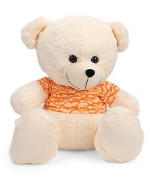 Funzoo Cloudy Teddy Bear With T Shirt Soft Toy Cream Orange - 50 cm