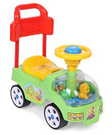 Kids Zone Manual Push Ride On - Green Yellow Red